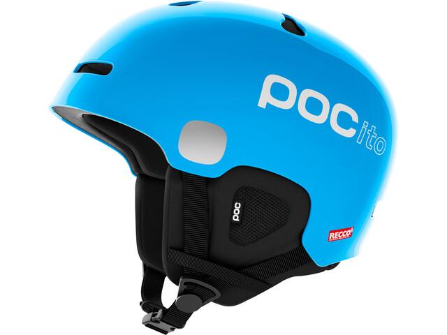 POC POCito Auric Cut Spin Casco Niños, fluorescent blue